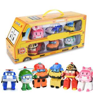 6 Styles Robocar Poli Transformation Toys Fire Truck Manual Deformation Kid Gift