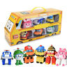 ROBOCAR POLI A Batch Of 6 Polished Children's Toy Transformers Cartoon Toys Gift
