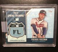 2017 Topps Freddie Freeman Spring Training Logo
