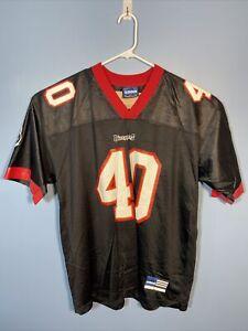 Vtg Adidas Mike Alstott Tampa Bay Buccaneers NFL #40 Football Jersey
