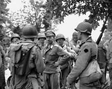 WW2  Photo WWII US Soldiers German POW Normandy 12 June 44  World War Two / 1564