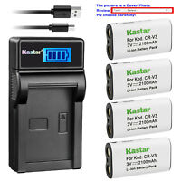 Kastar Battery LCD Charger for Nikon CR-V3 CoolPix 600 CoolPix 700 CoolPix 800
