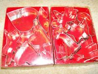"""Set of 10 Holiday Cookie Cutters Christmas & Valentines Up to 4.25"""" Long"""