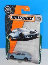 Matchbox 2018 MBX Road Trip #7 '17 Honda Civic Hatchback Blue