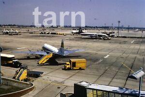 35mm slide aeroplane airplane  London airport Heathrow Lufthansa 1960s r184