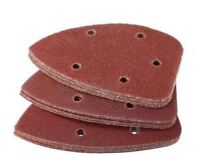6 12 18x Universal Fit Palm Sander Pad Triangle Grit Sanding Paper Sheet Tool
