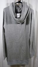 Ingrid & Isabel Maternity Cowl Neck Sweater Tunic Grey Size Large