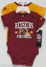 NFL NWT INFANT ONESIE-SET OF 2- WASHINGTON REDSKINS 18 MONTHS