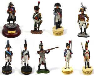 Lot de 9 Soldats de Plomb 1er Empire Napoléon Ney Tsar Alexandre 1/32 60mm LS22