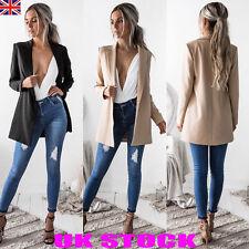 UK New Womens Stylish Suit Jacket Blazer Ladies Party Career Outwear Coats