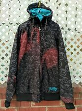 RARE Disc. Neff Custom Goods Snowboard Hoodie Shell Parka Jacket full zip MEDIUM