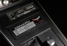 Engine ID Metal Data Spec Plate L48 350ci 180hp (1977 C3 Corvette) Console