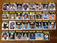 1986 MILWAUKEE BREWERS Topps COMPLETE Baseball Team Set 31 Cards YOUNT FINGERS