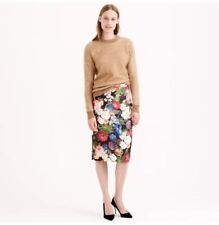 J. Crew Collection Dutch Floral Pencil Skirt Silk 0