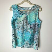 Christopher & Banks Women's Sleeveless Top Size Large Casual Work Career
