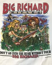 Rare 90s BIG RICHARD RIFLES Dont go into the BUSH Without Graphic T Shirt L Sexy