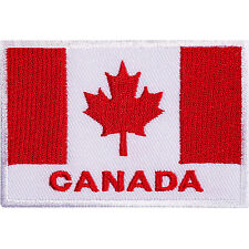 Canada Flag Embroidered Iron Sew On Patch Canadian Jacket Bag T Shirt Hat Badge