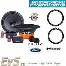 Kit 4 Casse Altoparlanti HERTZ DSK 165.3 per Ford Fiesta Anteriori dal 2008>2017