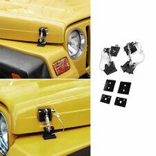 Fit For Jeep Wrangler TJ 1997-06 Black Retro Style Hood Catch Latch Lock Bracket