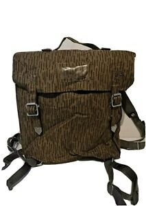 East German Army DDR NVA Bag Backpack With Straps Raindrop Strichtarn Camouflage