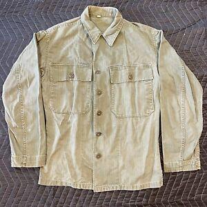 Korean War US Army M1947 M47 Herringbone Twill HBT Shirt Jacket 36R