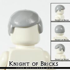Lego Minifigure Hair LIGHT GRAY 3901 Male Boy Cap Wigs Business Wig