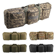 Double Rifle Military Tactical Gun Bag Shooting Hunting Carry Case Strap Bag