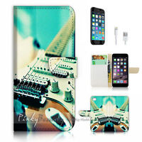 ( For iPhone 7 Plus ) Wallet Case Cover P1125 Guitar