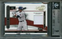 2003 piece of the game #8 ALEX RODRIGUEZ texas rangers BGS 9 (9.5 8.5 9 9.5)