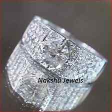 Engagement Ring 925 Sterling Silver 1.50Ct White Round Cut Moissanite Man's
