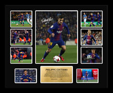 New Philippe Coutinho Signed FC Barcelona Limited Edition Memorabilia Framed