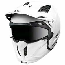 MT Streetfighter Dual Sport Motor Bike Motorbike Motorcycle Helmet - Pearl White