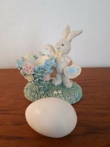 VINTAGE EGG CUP PAINTING BUNNY