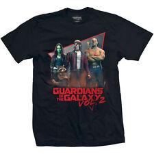Camiseta de manga corta negra para hombre Guardianes de la galaxia Vol. Oficial