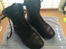Mens Magnum Boots Black Leather Zip Up With Lace Size Uk 9 Used