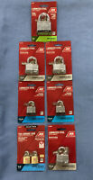 """Lot Of 7 ACE PADLOCKS - Various Sizes 2"""" • 1 3/4"""" • 1 3/16""""+ More"""