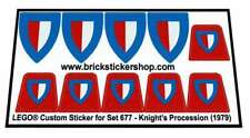 Replica Pre-Cut Sticker for Lego® Classic Castle set 677 - Knight's Procession