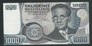 AUSTRIA  1000 SCHILLING  1983 XF