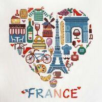 New Counted Cross Stitch Embroidery Kit Sampler France by Marya Iskustnitsa