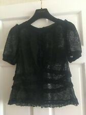 Louis Vuitton Black lace blouse top   size XL
