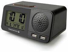 Precision Radio Contrôle Atomique Msf Affichage Numérique Dual USB Réveil AP055