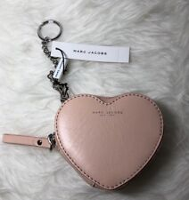 NWT Marc Jacobs Pink Leather Heart Coin Wallet /Key Holder / Handbag Charm