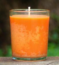 40hr PURE ESSENTIAL OILS of MANDARIN Citrus Scent ECO SOY WAX Jar Votive Candle