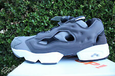 REEBOK INSTAPUMP FURY TECH SZ 12 BLACK DARK GHOST SOLID GREY FOGGY AR0625