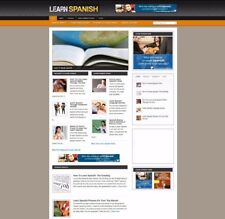 LEARN SPANISH WEBSITE WITH ARTICLES + UK AFFILIATE STORE - NEW DOMAIN & HOSTING
