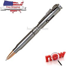 Rifle Pen Bullet Brass Casing Ball Point Cal Cartridge Clip Bolt Action Caliber