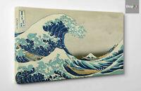⭐️ Hokusai La Grande Onda di Kanagawa Stampa su TELA Vernice Pennellate XXL 🎨