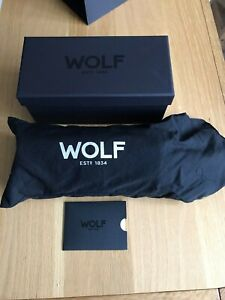 WOLF Blake 3 Watch Roll R305602 Travel Triple Case Black Leather BNIB RRP £200+