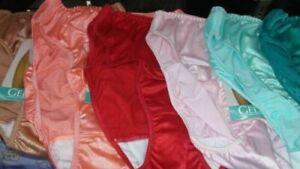 ( 3 ) GELMART  99 BIKINI HI-CUT SATIN PANTIES SWEET SUPPORT # 99
