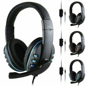 Wired Headset Headhand Gaming Stereo Headphones Microphone For PS4/ XBOX-ONE/ PC